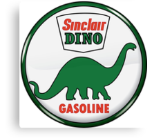 Sinclair Dino Gasoline vintage sign crystal vers. Canvas Print