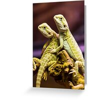 Lizards in Love Greeting Card