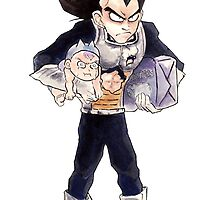 Vegeta and Trunks by arumise