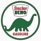 Sinclair Dino Gasoline vintage sign flat version by htrdesigns