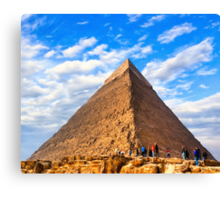 Wonders of Antiquity - Egyptian Pyramid Canvas Print
