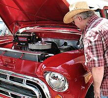 Checking Out This Baby......1951Chevy Truck by © Bob Hall