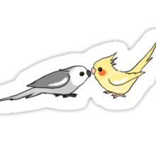 Cockatiel lovers Sticker