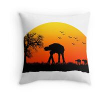AT-AT. Left to roam free Throw Pillow