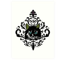 cat nap damask Art Print