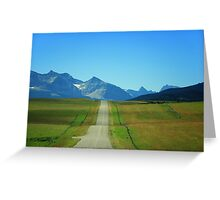 Take A Drive On A Country Road Greeting Card