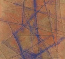 Watercolor Abstraction: Brown Scored Paper by Megan  Koth