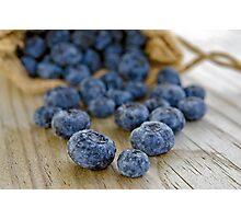 Blueberry Macro Photographic Print