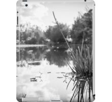 River Reflections in B&W iPad Case/Skin