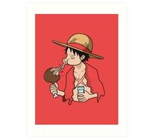 ONE PIECE: Midnight Snack Luffy Art Print