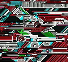 Halo woodcut by pennydigital