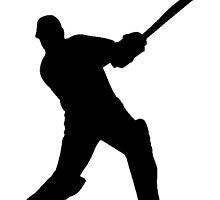Cricket Player Silhouette by kwg2200
