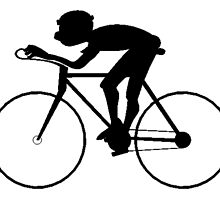 Cyclist Silhouette by kwg2200