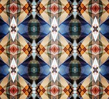 Earth Tones Geometric Abstract Pattern by perkinsdesigns