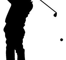 Golfer Silhouette by kwg2200