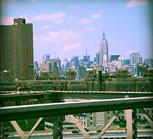 Manhattan from the brooklyn bridge by 2B2Dornot2B