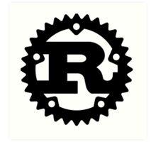 Rust Programming Language Logo Art Print