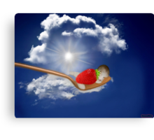 """(◡‿◡✿) (◕‿◕✿) Strawberry Delight """"Life Is Sweet"""" (◡‿◡✿) (◕‿◕✿) Canvas Print"""