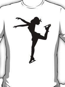 Figure Skate Silhouette T-Shirt