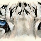 Eye-Catching Royal White Tiger by BarbBarcikKeith