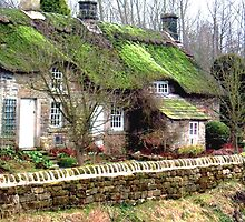 Cottages at Baslow, Derbyshire, UK by GeorgeOne