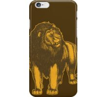 Lone Lion by Cheerful Madness!! iPhone Case/Skin