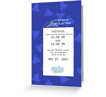 Space Mountain Fastpass Greeting Card
