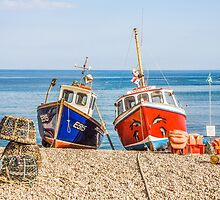Fishing Boats On Beach by Graham Prentice