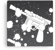 Han Solo Blaster Paint Splatter (White) Canvas Print