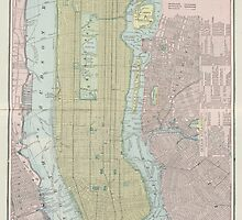 Vintage Map of New York City (1901) by BravuraMedia