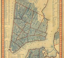 Vintage Map of New York City (1846) by BravuraMedia
