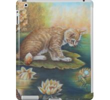 Whimsical Cat Art - Cat and the Prince Charming Frog iPad Case/Skin