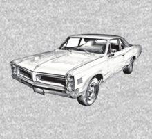 1966 Pontiac Lemans Car Illustration Kids Clothes