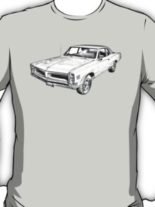 1966 Pontiac Lemans Car Illustration T-Shirt