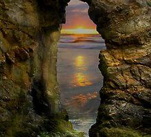 Perranporth Keyhole Sunset, Cornwall, UK ~ Atlantic Coast by Debra  Jayne