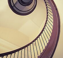 Spiral stairs in browns by JBlaminsky