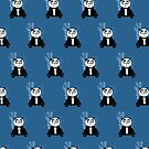 Panda Girl - Blue (Pattern 2) by Adamzworld