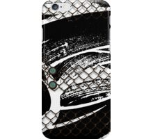 Modern abstract with buttons and Chicken wire iPhone Case/Skin