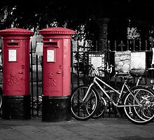 Red Post Boxes by Sue Martin