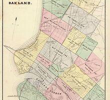 Vintage Map of Oakland California (1878) by BravuraMedia