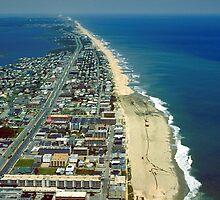 Aerial View of Ocean City Maryland by BravuraMedia