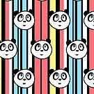 Panda Retro (Pattern) by Adamzworld