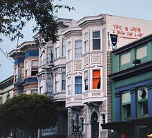 Banksy in SF by Santamariaa