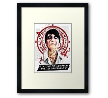 """Silent Hill - It's time to complete the """"21 Sacraments"""" Framed Print"""