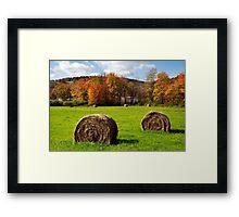 Fall Hay Bales Landscape Framed Print
