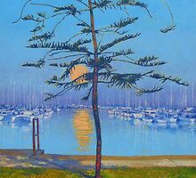 Manly Harbour Moonrise by Cary McAulay