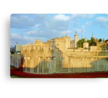 Blood Filled Moat - Tower of London Canvas Print