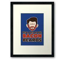 Bacon Beard (men's version) Framed Print
