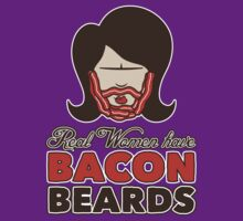 Bacon Beard (women's version) by mikehandyart