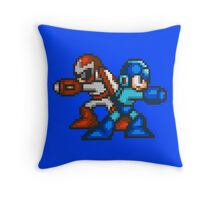 Megaman And Protoman Throw Pillow